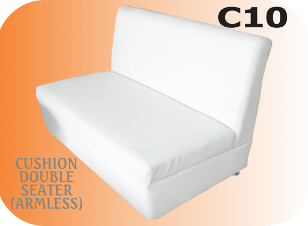 Double Seater armless cushion image