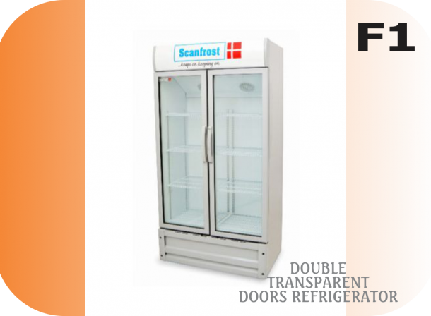 Double Transparent Door Freezer